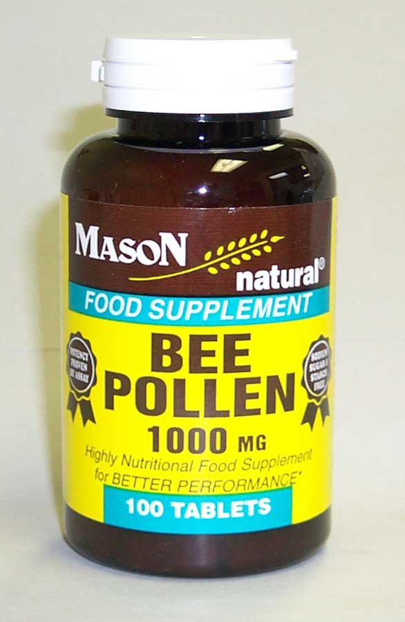 Image 0 of Bee Pollen 1000 mg Food Supplements Tablets 100