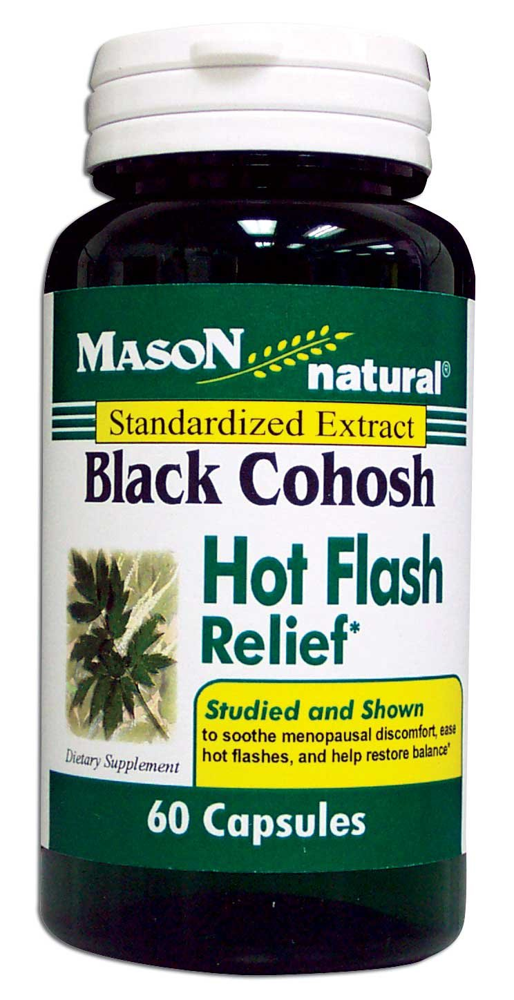 Image 0 of Black Cohosh Hot Flash Relief Standardized Extract Capsules 60