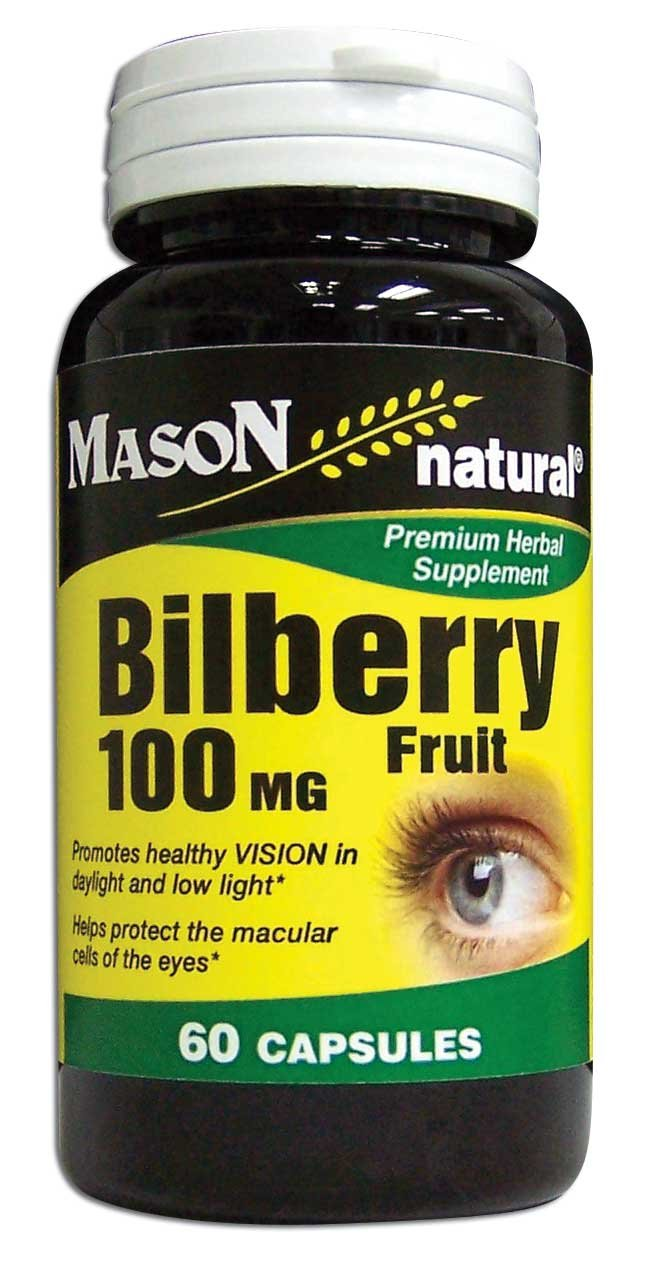 Image 0 of Bilberry Ripened Fruit 100 mg Standardized Herb Capsules 60