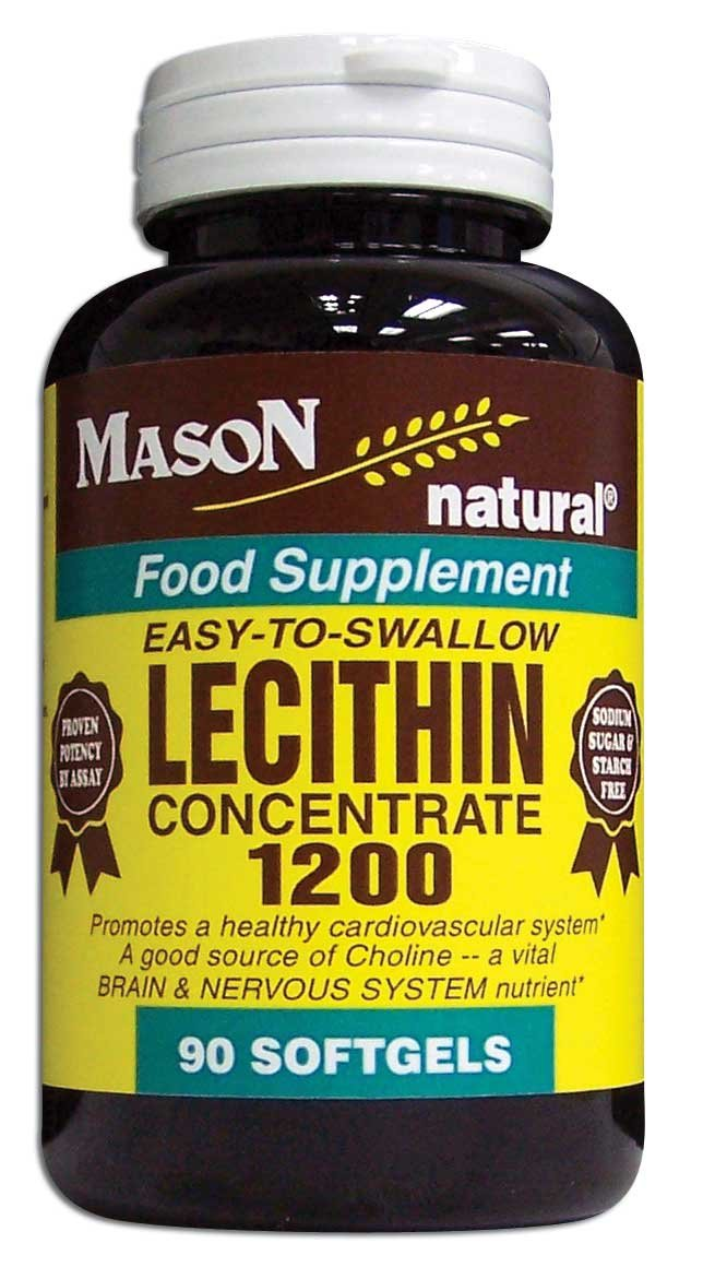 Image 0 of Lecithin Concentrate 1200 Eachsy-To-Swallow Food Supplement Softgels 90