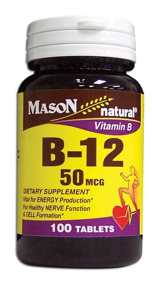 Image 0 of Vitamin B Supplement B-12 50Mcg Dietary Supplement Tablets 100
