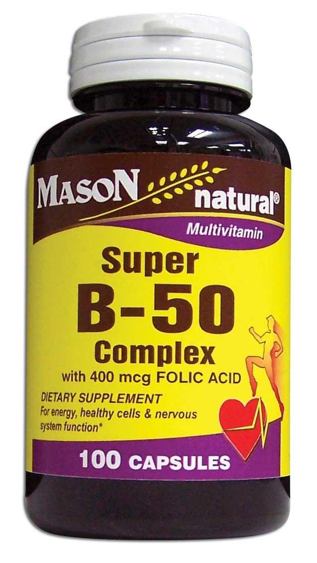 Image 0 of Super B-50 Complex With 400Mcg Folic Acid Multivitamin Capsules 100