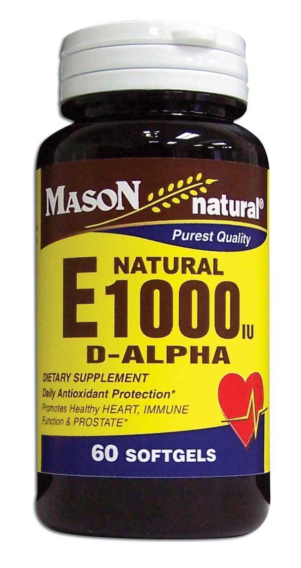 Image 0 of Natural E 1000 Units D-Alpha Tocopheryl Dietary Supplement Softgels 60