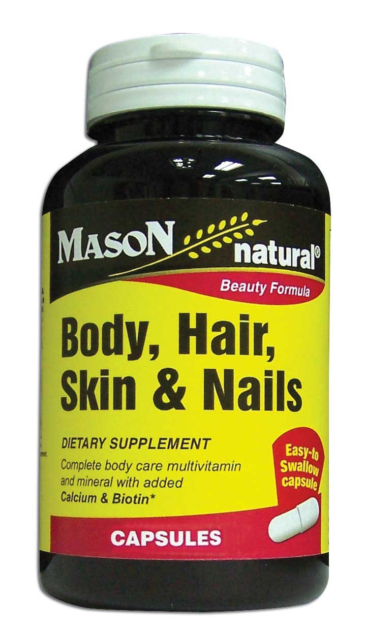 Image 0 of Body Hair Skin& Nails Beauty Formula Dietary Supplement Capsules 60