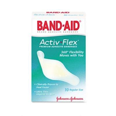 Band-Aid Activ Flex Premium Adhesive Regular Size Bandages 10 Ct.
