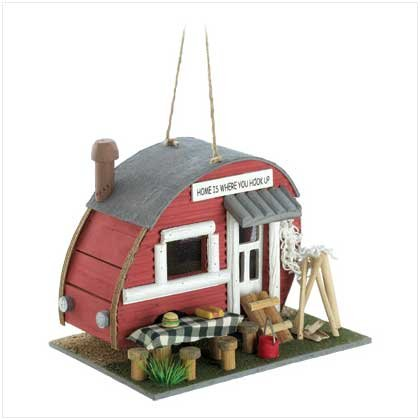 Cute Vintage Camping Trailer Decorative Birdhouse