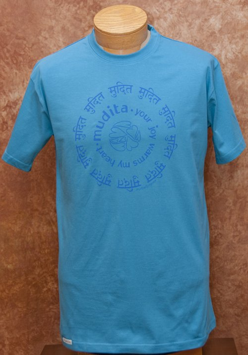 Mudita T shirt Sanskrit Unselfish Joy Organic Cotton Fair Trade