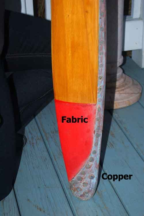 Image 3 of Airplane Propeller Cessna L-19 Bird Dog 6' Laminated Wood/Copper