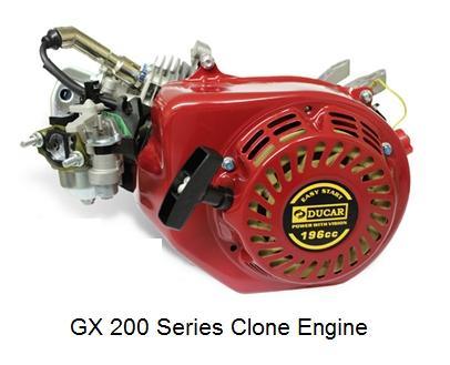Ducar 196cc GX200 Series Clone Engine