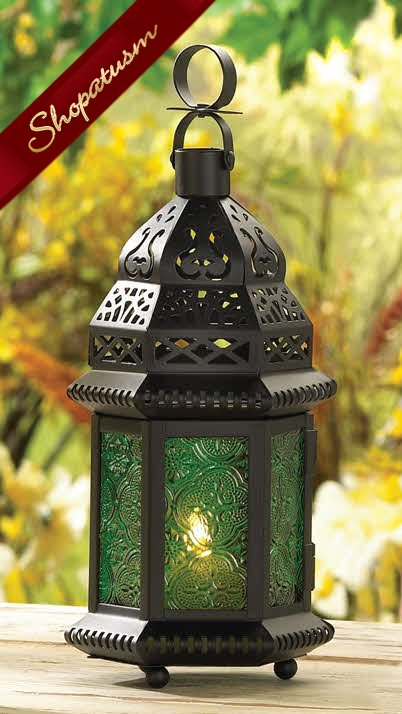 12 Wholesale Green Moroccan Table Hanging Wedding Candle Lanterns
