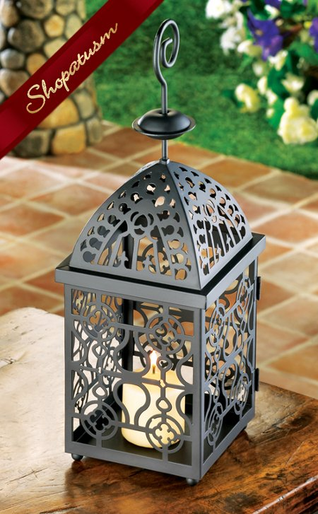 36 Centerpieces Cross Black Moroccan Candle Lanterns