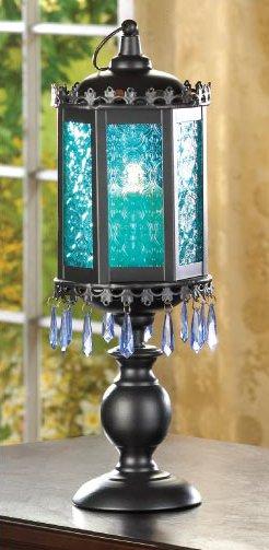 12 Wholesale Lanterns, Azure Blue Centerpiece, Pedestal Lanterns, Bulk Lot
