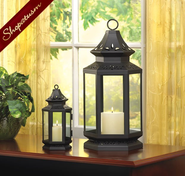 Wholesale lanterns black large stagecoach