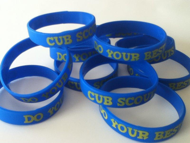 Spongebob Party Favors > (10) Cub Scouts Rubber Do Your Best Bracelets