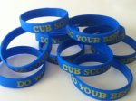 Spongebob Party Favors > (10) Cub Scouts Rubber Do Your Best Bracelets