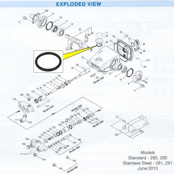 Image 2 of CAT Pump Oil Filler Cap ''O'' Ring