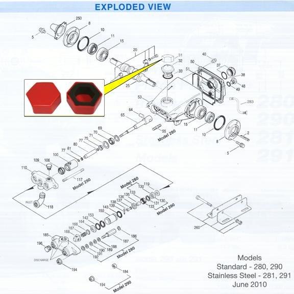 Image 2 of CAT Pump Oil Filler Cap Protective Cover