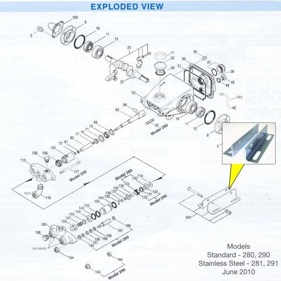 Image 1 of CAT Pump Angle Mounting Rail Set