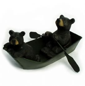 Image 0 of Black Bears in Boat  Figurine