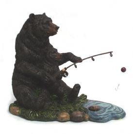 Image 0 of Black Bears Fishing Figurine