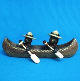 Image 0 of Black Bears In Canoe Figurine