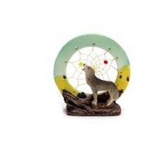 Image 0 of  Wolf  Dream Catcher Figurine