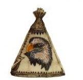 Image 0 of Eagle Tepee Figurines