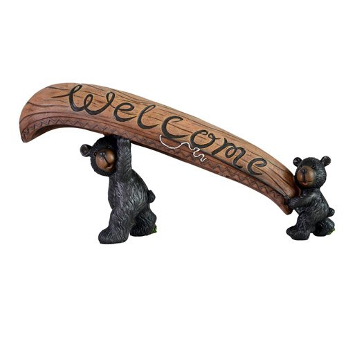 Image 0 of Bears Carring Canoe Welcome Sign
