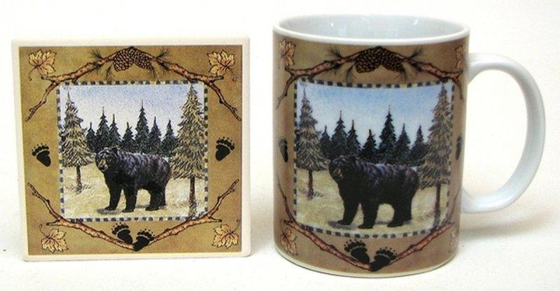 Image 0 of Ceramic Bear Mug and Coaster set