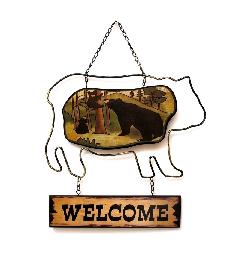 Image 0 of Black Bear Welcome Wall Plaque