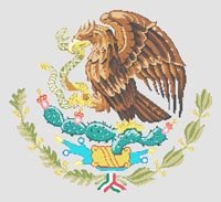 Mexican Emblem Mexico Cross Stitch Pattern