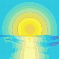 Abstract Sunset Sunrise Cross Stitch Pattern
