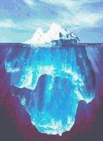 Iceberg Titanic Cross Stitch Pattern