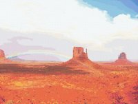 Desert Rainbow Cross Stitch Pattern
