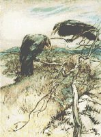 Arthur Rackham Ravens Crows Cross Stitch Pattern