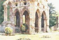 Dryburgh Abbey Medieval Ruins Cross Stitch Pattern
