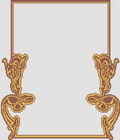Art Nouveau Frame Border Cross Stitch Pattern