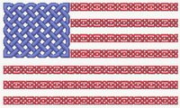 Celtic Knot US Flag Cross Stitch Pattern