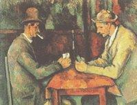 Poker Players Cezanne Cross Stitch Pattern