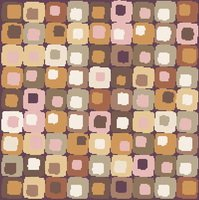 Abstract Geometric Cross Stitch Pattern Earth Tones