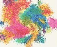 Abstract Paint Daubs Cross Stitch Pattern