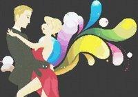 The Rainbow Dancers Dance Cross Stitch Pattern