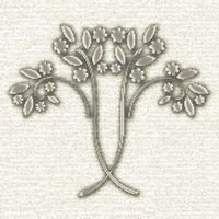 Art Nouveau Flowering Bush Cross Stitch Pattern