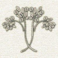 Art Nouveau Flowering Bush Cross Stitch Pattern