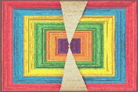 Abstract Frames Triangles Smaller Size Cross Stitch Pattern