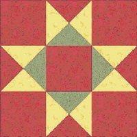 Quilt block pattern - Ohio Star Quilt Block Pattern