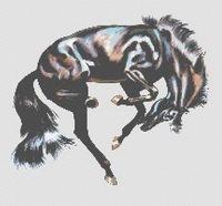 Black Beauty Horse Stallion Counted Cross Stitch Pattern