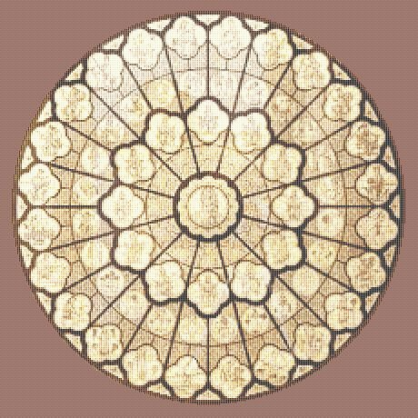 CATHEDRAL ROSE WINDOW AFGHAN PATTERN ? CROCHET, SEWING ...