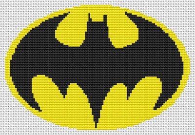 Batman Symbol Knitting Patterns - Patterns Kid