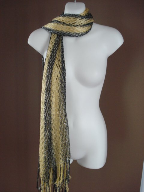 MULTI USE SCARF WRAP IMPORTED FROM EGYPT N39 10  YELLOW BLACK